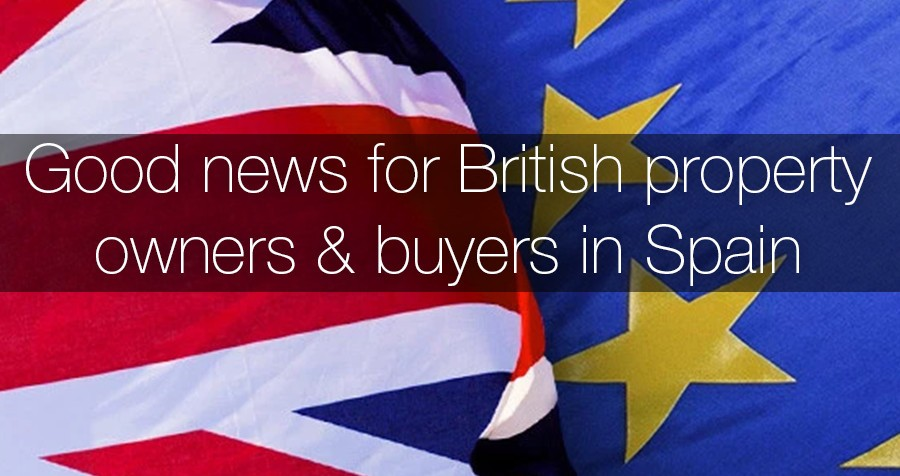 Good news for British property owners and buyers in Spain