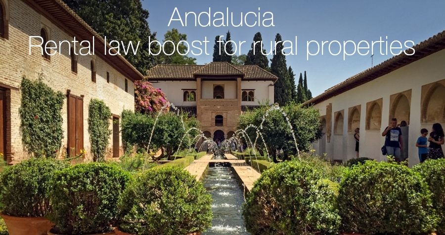 Andalucia Rental law boost for rural properties