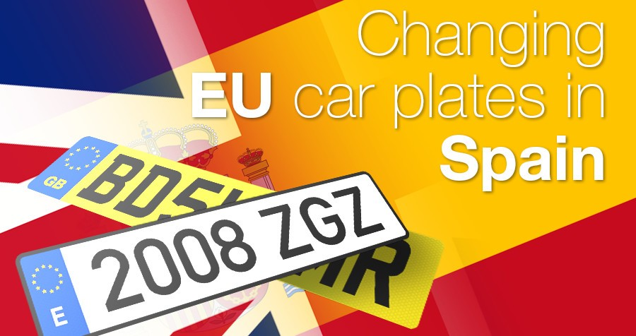 Changing your EU car plates in Spain