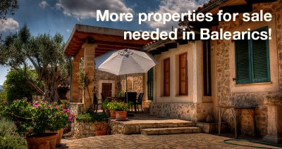 More properties for sale needed in Balearics